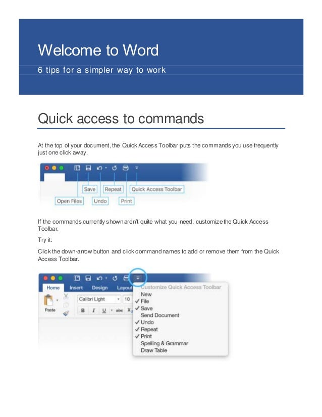 Welcome to word
