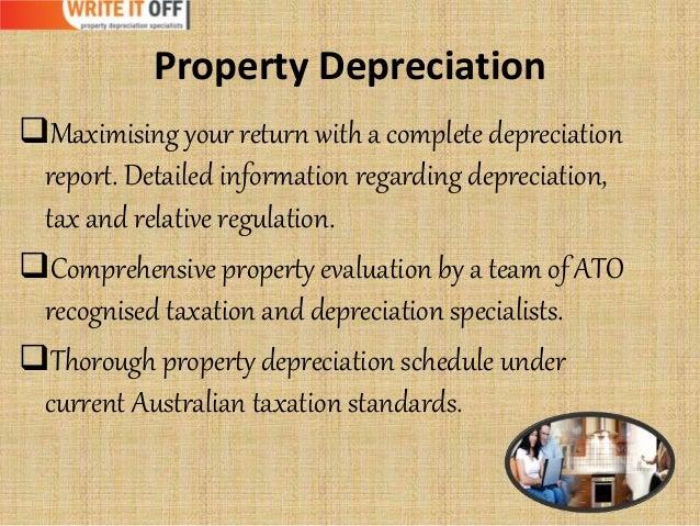 how to write up a depreciation schedule tax australia