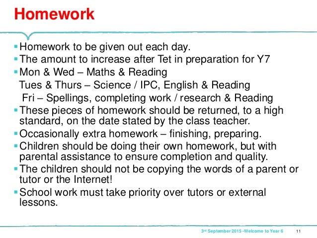 year 6 vcop homework