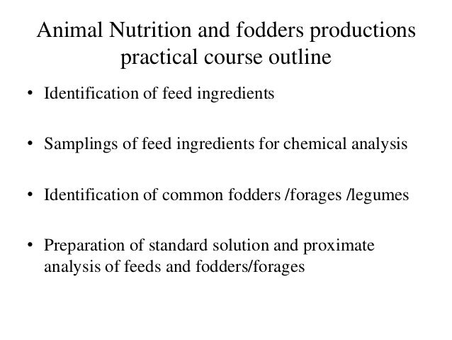 identification of feed ingredients