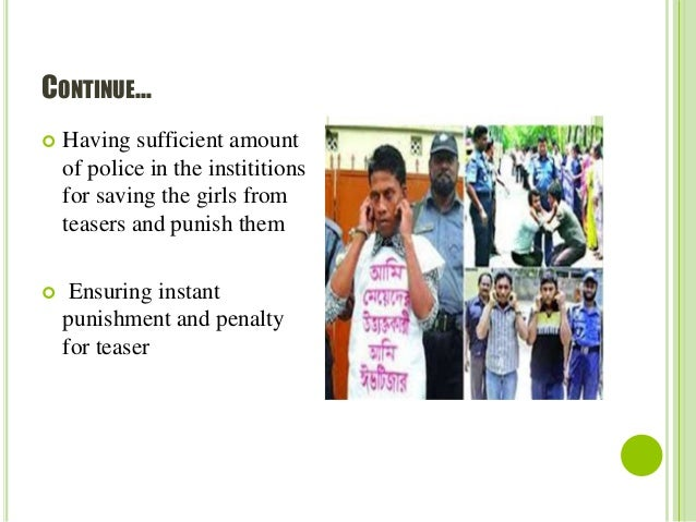 """The Effects of """"Eve Teasing"""" on Development in Bangladesh Paper"""