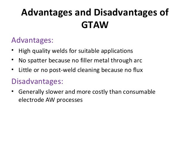 advantages and disadvantages of plasma arc welding pdf