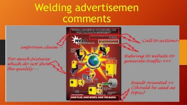 Welding advertisemen comments