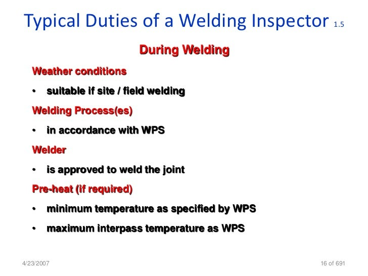 Welding Inspection Cswip – Structural Welder Job Description