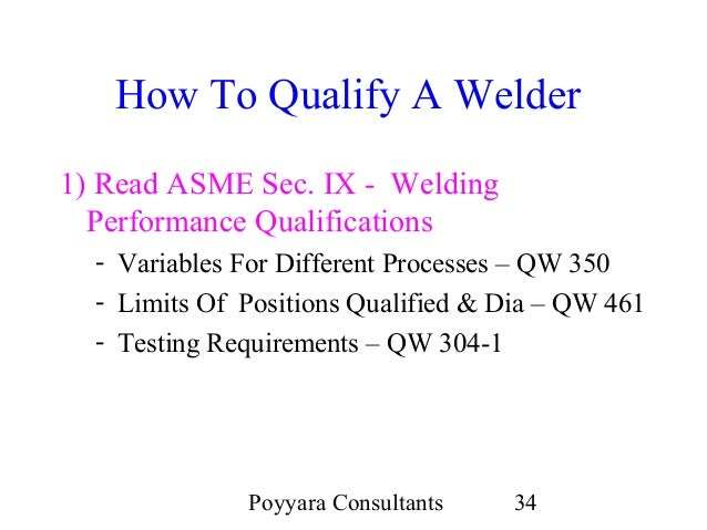 Welding Qualification A