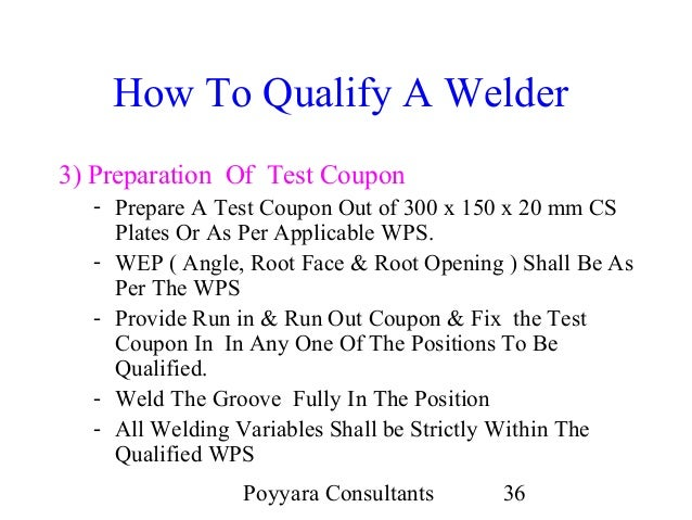 Weld test coupon preparation plate & pipe