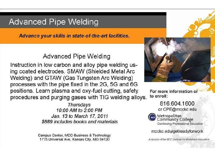 Does someone you know want to learn advanced welding?