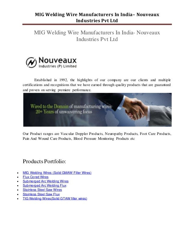 Welding wire manufacturers in india