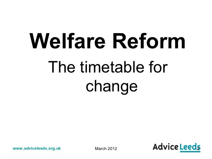 Welfare reform slides