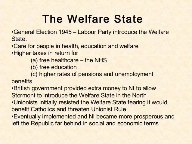 northern the welfare state 2 the welfare state