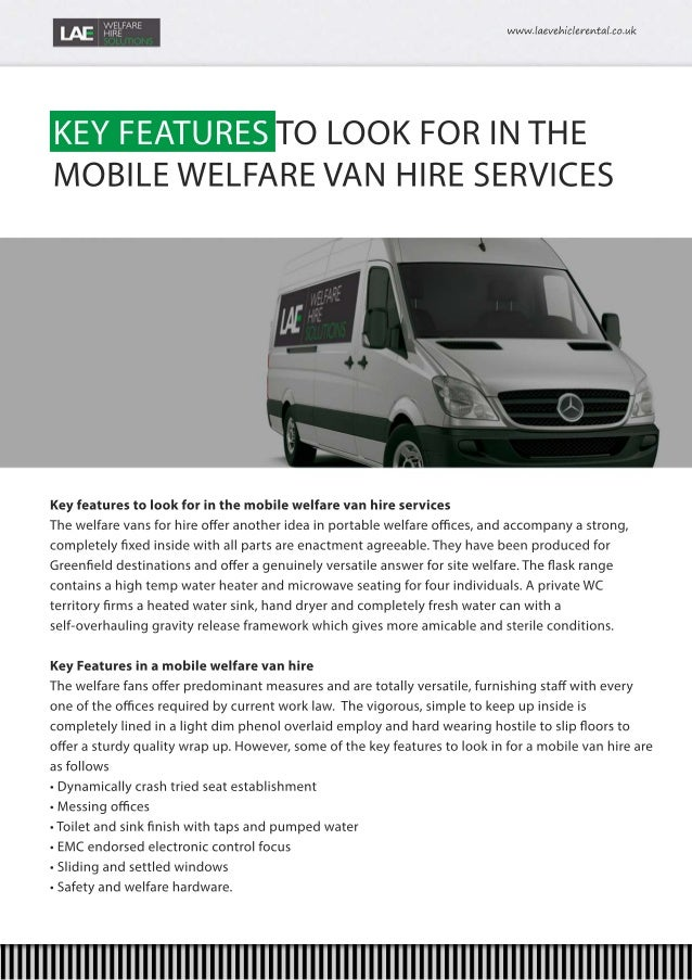 A Huge Selection of Welfare Vans & Welfare Units for Hire Nationwide Slide 2