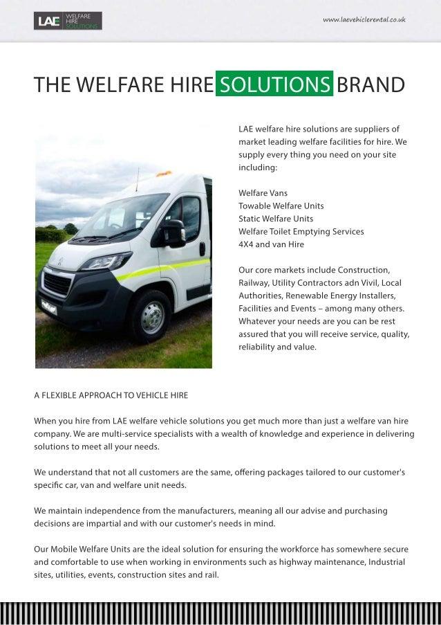 A Huge Selection of Welfare Vans & Welfare Units for Hire Nationwide Slide 3