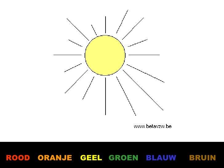 welke kleur heeft de zon