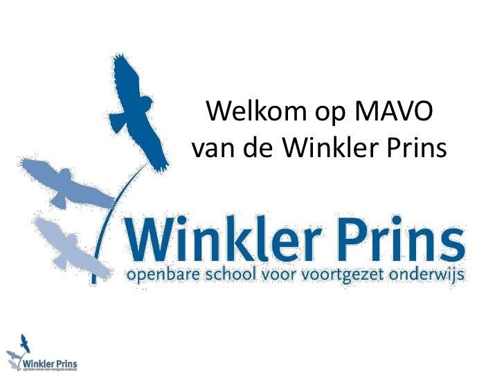 Welkom op MAVO van de Winkler Prins<br />