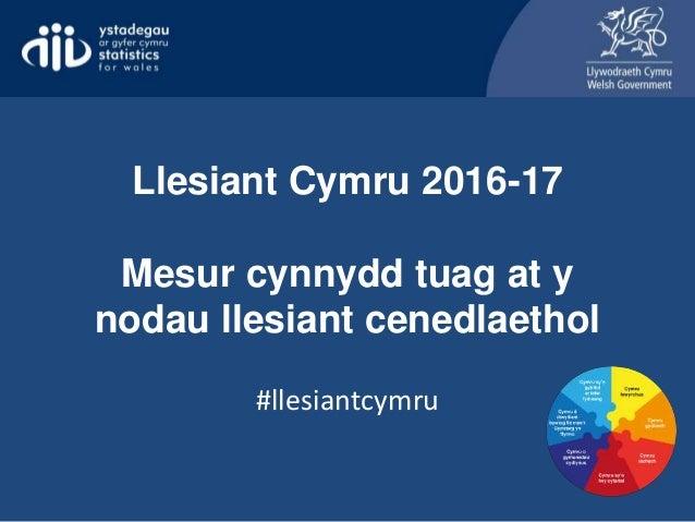 Llesiant Cymru 2016-17 Mesur cynnydd tuag at y nodau llesiant cenedlaethol #llesiantcymru
