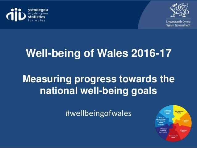 Well-being of Wales 2016-17 Measuring progress towards the national well-being goals #wellbeingofwales
