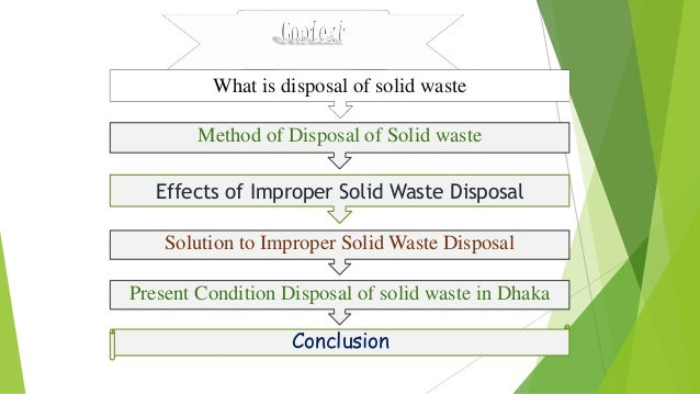 improper disposal of solid waste Solid waste policy in the united states is aimed at developing and improper disposal can lead to human solid waste disposal act amendments of 1980.