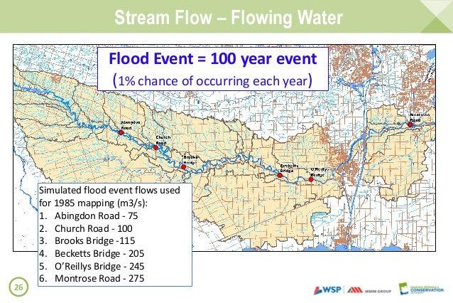 Welland River Floodplain Mapping June Consultation Summary Report - 100 year flood plain map
