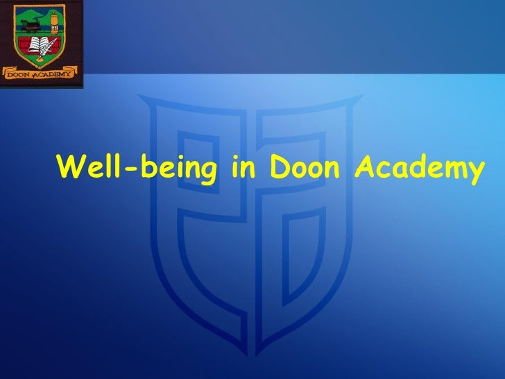 Well-being in Doon Academy