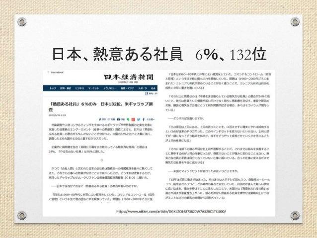 日本、熱意ある社員 6%、132位