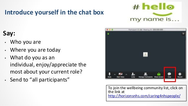 #Caring4NHSPeople virtual wellbeing session 14th July 2021 Slide 2