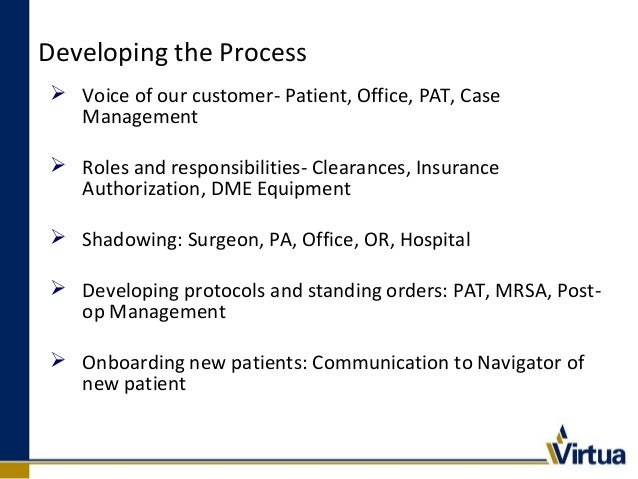 Navigation Pathway  Administrative Assist schedules Navigation call, blackout dates, electronic Care Path  Initial Nurse...