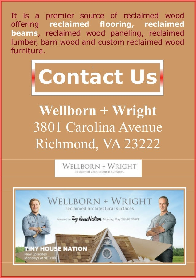 4. - Wellborn + Wright €� One Name Catering All Your Wooden Requirements