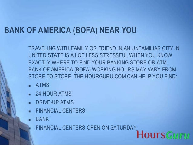 bank of america hours saturday near me