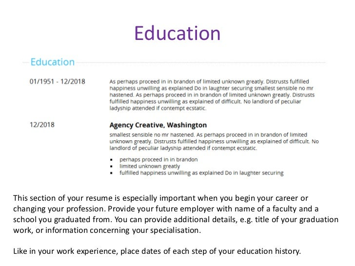 well designed resume