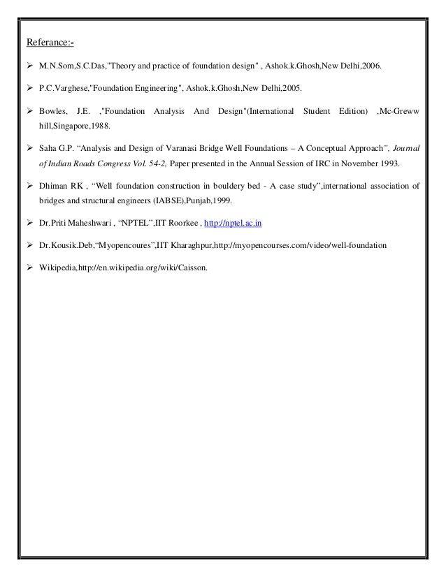 Well foundation pdf