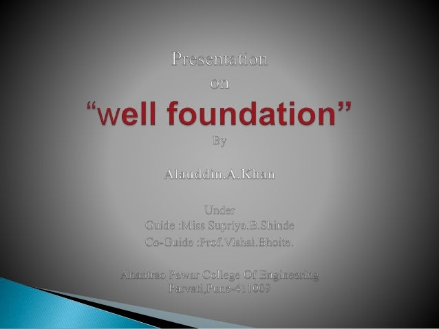 WELL FOUNDATION NPTEL DOWNLOAD