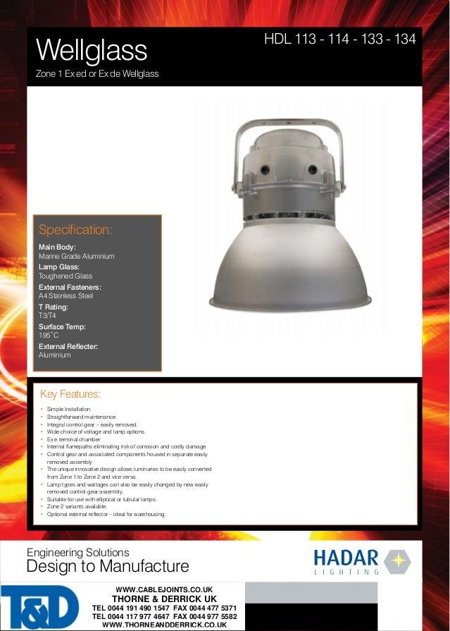 wellglass lighting zone 1 atex ex ed or ex de hadar hazardous are