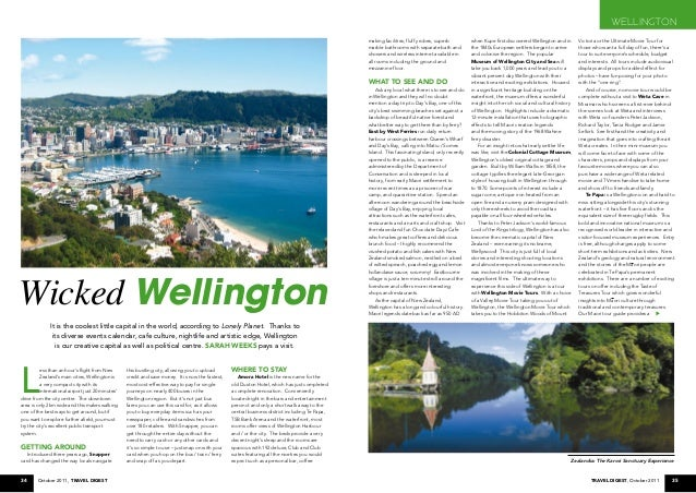 34 October 2011, Travel Digest 35Travel Digest, October 2011 L ess than an hour's flight from New Zealand's main cities, W...
