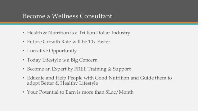 Aspire to be a Wellness Consultant? Slide 3