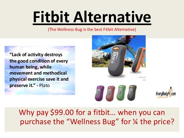 """Fitbit Alternative(The Wellness Bug is the best Fitbit Alternative)Why pay $99.00 for a fitbit… when you canpurchase the """"..."""
