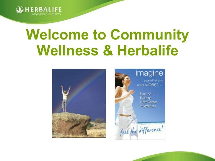 Welcome to Community Wellness & Herbalife