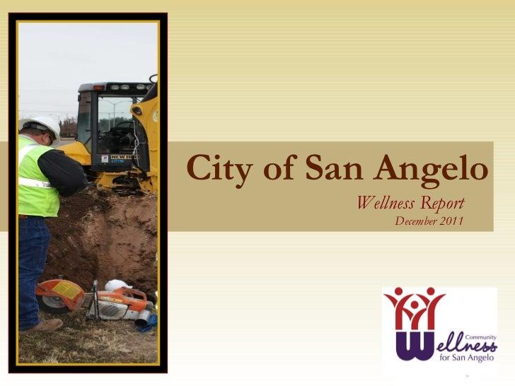 City of San Angelo Wellness Report   December 2011