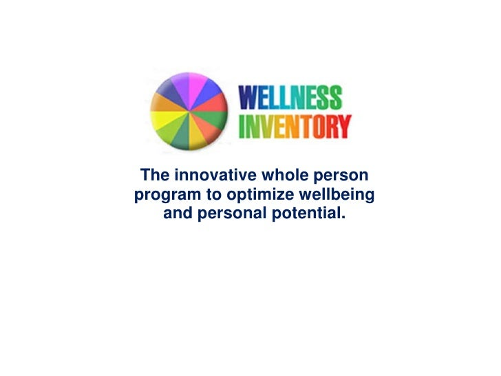 The innovative whole personprogram to optimize wellbeing   and personal potential.