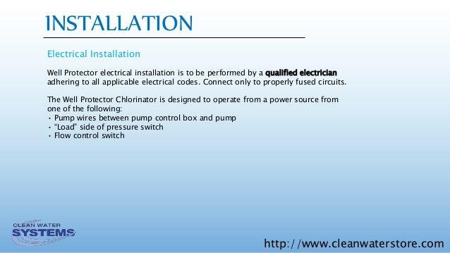 Well protector dry pellet chlorinator installation operation and ma 11 httpcleanwaterstore installation electrical sciox Images