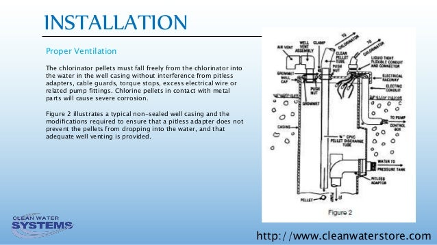 Well Protector Dry Pellet Chlorinator Installation, Operation, and on