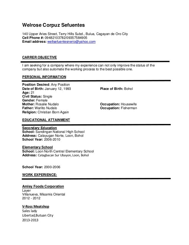 Resume Sample Resume Jollibee Applicant well resume app