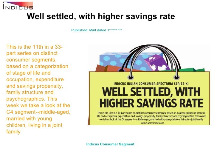 Well settled, with higher savings rate Published: Mint dated 1 st  March 2010 This is the 11th in a 33-part series on dist...