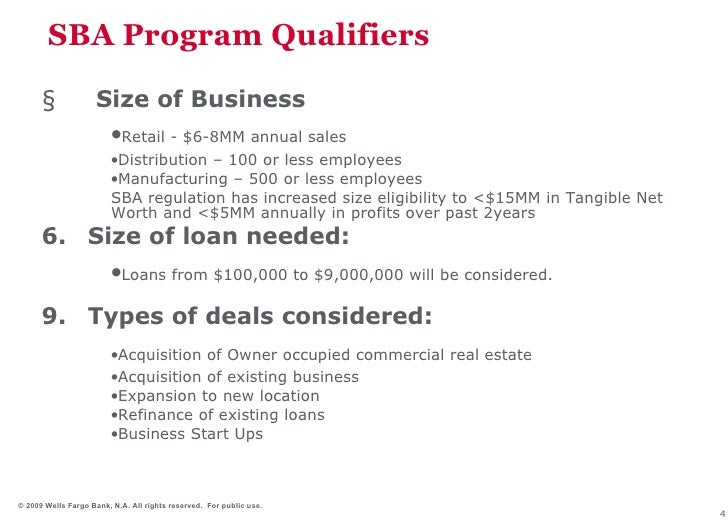 acquisition loan wells fargo business