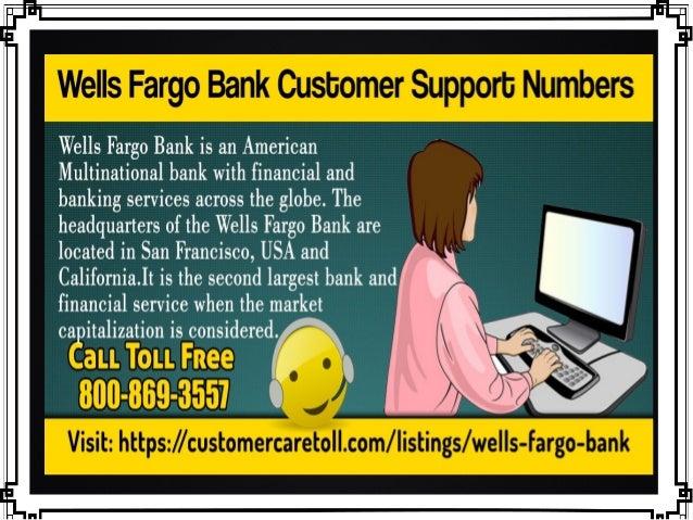 Wells fargo bank customer support numbers