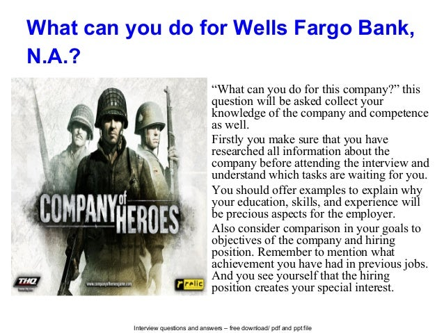 Wells Fargo Bank Na Interview Questions And Answers