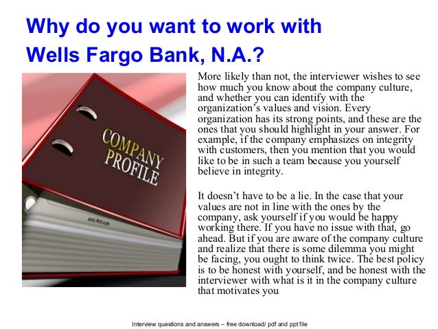 wells fargo interview questions