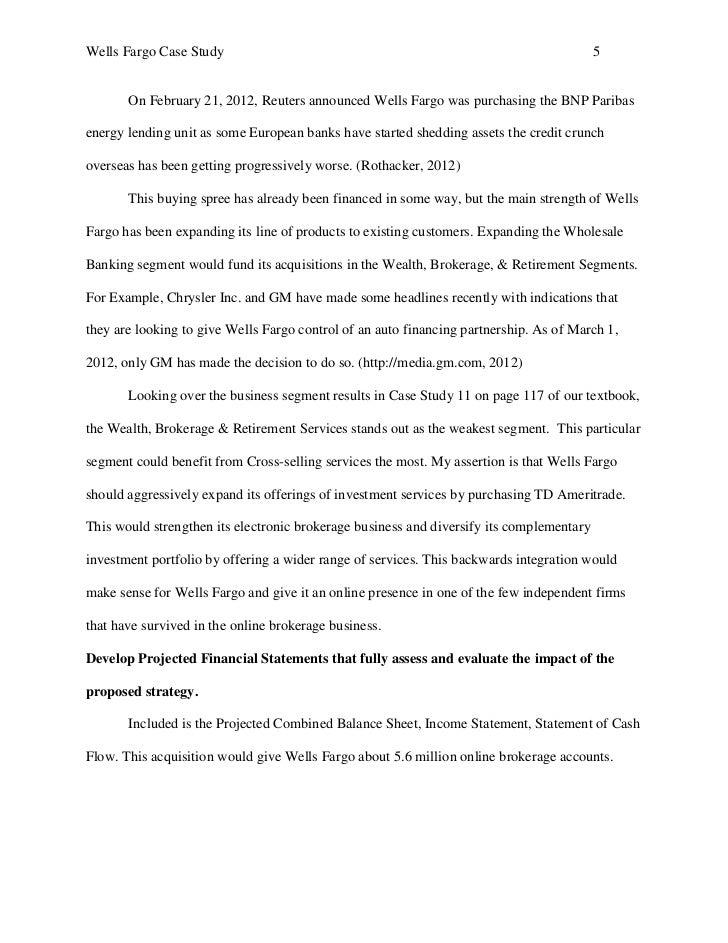 Wells Fargo Case Study
