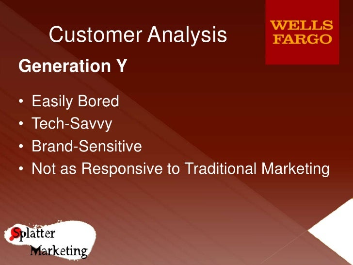 wells fargo marketing analysis Business lending at wells fargo prior to 1990, wells fargo was not a  wells fargo business direct  disciplined analysis of test results required to.