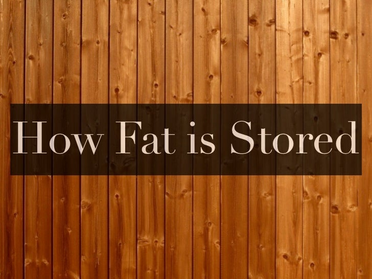 How Fat is Stored