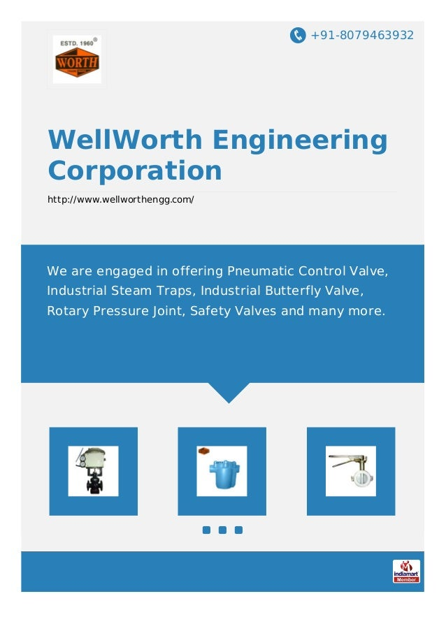 +91-8079463932 WellWorth Engineering Corporation http://www.wellworthengg.com/ We are engaged in offering Pneumatic Contro...
